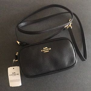 NWT Coach crossbody pebble leather bag